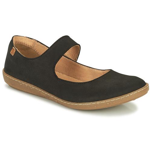 Shoes Women Flat shoes El Naturalista CORAL Black