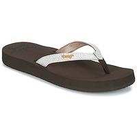 Shoes Women Flip flops Reef STAR CUSHION SASSY Brown / White