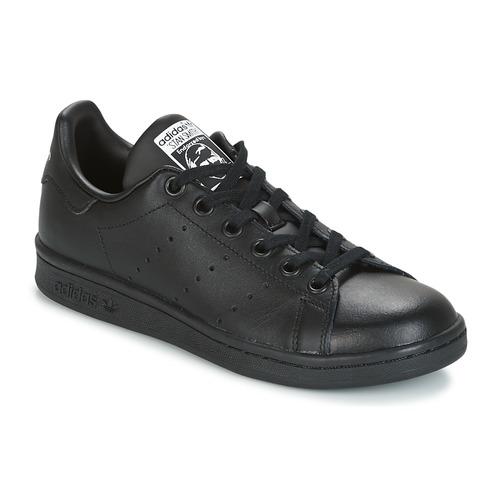 Shoes Children Low top trainers adidas Originals STAN SMITH J Black