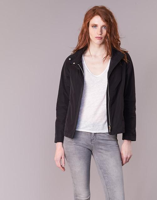 Clothing Women Jackets Geox PORTCE Black