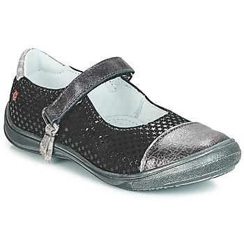Shoes Girl Flat shoes GBB RIKA Black / Silver