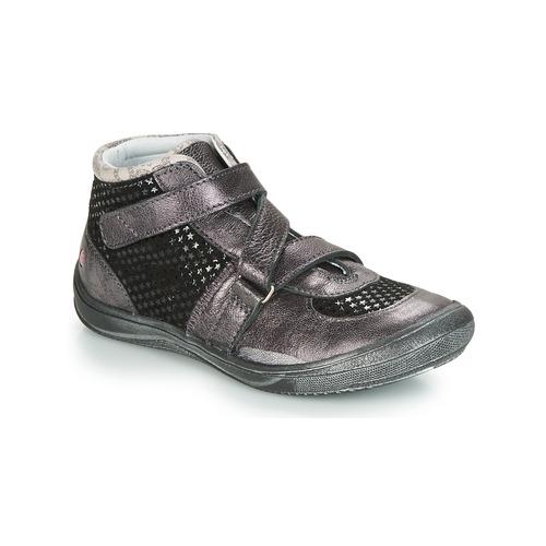 Shoes Girl Hi top trainers GBB RIQUETTE Black / Silver