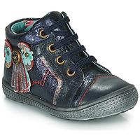 Shoes Girl Mid boots Catimini RHUBARBE Marine