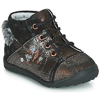 Shoes Girl Mid boots Catimini ROULETTE Black