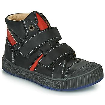 Shoes Boy Hi top trainers Catimini RAIFORT Black / Red