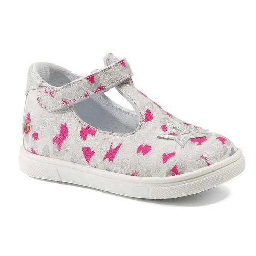Shoes Girl Flat shoes GBB SABRINA Grey / Pink / White