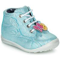 Shoes Girl Hi top trainers Catimini SALAMANDRE Blue / Silver