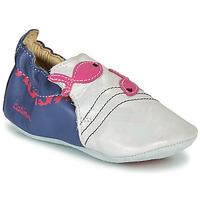 Shoes Girl Slippers Catimini SIRENE White / Marine / Pink