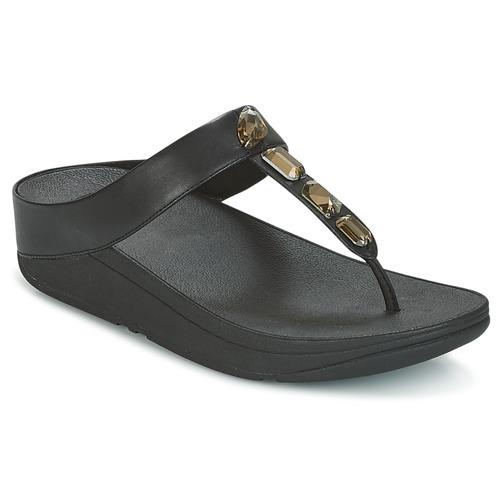 Shoes Women Flip flops FitFlop ROKA TOE-THONG SANDALS Black