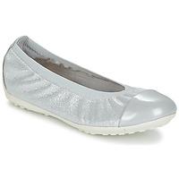 Shoes Girl Flat shoes Geox J PIUMA BAL A Grey / Silver
