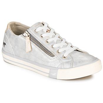 Shoes Women Low top trainers Mustang JOBARIK Silver