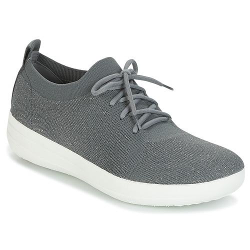 Shoes Women Brogues FitFlop F-SPORTY UBERKNIT SNEAKERS Grey