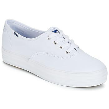 Shoes Women Low top trainers Keds TRIPLE CORE CANVAS White