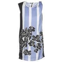 Clothing Women Short Dresses Sisley LAPOLLA Blue / White / Black
