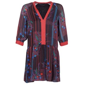 Clothing Women Short Dresses Sisley CEPAME Black / Red / Blue
