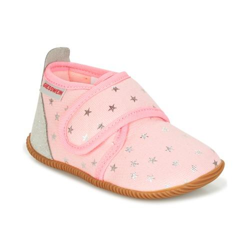 Shoes Girl Slippers Giesswein SALSACH Pink