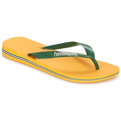 Shoes Flip flops Havaianas BRAZIL LOGO Yellow