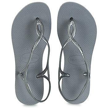 Shoes Women Flip flops Havaianas LUNA Silver