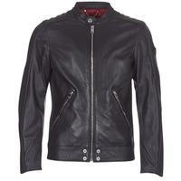 Clothing Men Leather jackets / Imitation leather Diesel L SQUAD Black