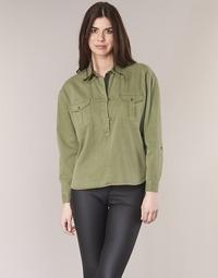Clothing Women Tops / Blouses Scotch & Soda BRAVO Kaki
