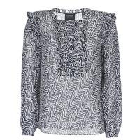 Clothing Women Tops / Blouses Scotch & Soda OLZAKD Black / White