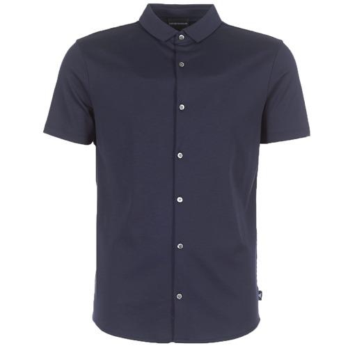 Clothing Men short-sleeved shirts Emporio Armani BEWU Marine