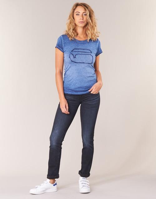 Clothing Women straight jeans G-Star Raw MIDGE SADDLE MID STRAIGHT Rink