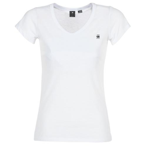 Clothing Women short-sleeved t-shirts G-Star Raw EYBEN SLIM V T WMN S/S White