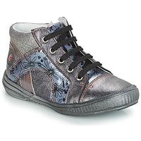 Shoes Girl Hi top trainers GBB ROSETTA Grey / Blue