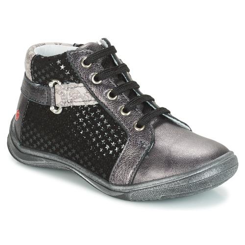 Shoes Girl Mid boots GBB RICHARDINE Grey / Black