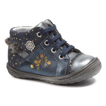 Shoes Girl Mid boots Catimini RIKI Vtc / Navy spots / Gold