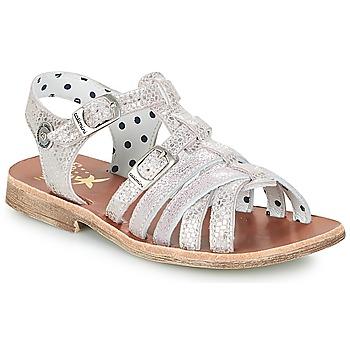 Shoes Girl Sandals Catimini SAULE Silver / Pink