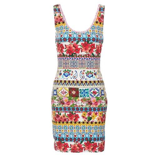 Clothing Women Short Dresses Desigual OCONDE Multicolour