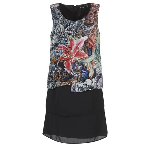 Clothing Women Short Dresses Desigual OULKE Multicolour