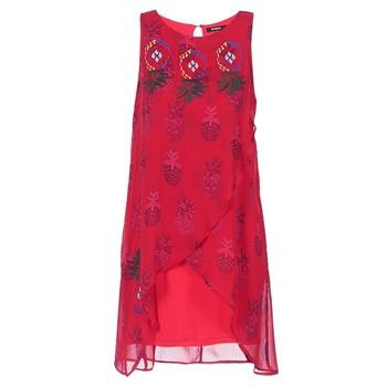 Clothing Women Short Dresses Desigual DORIJE Red