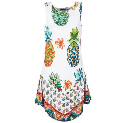 Clothing Women Short Dresses Desigual HOQLER White