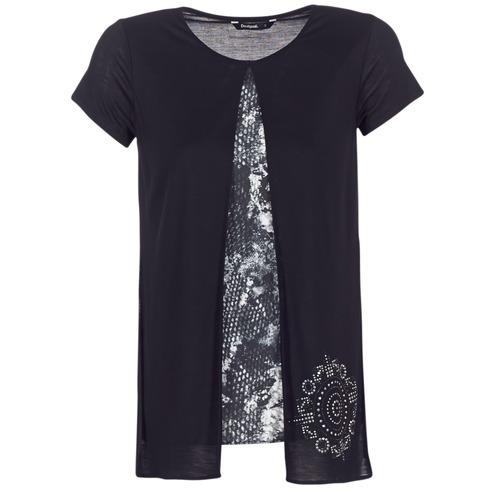 Clothing Women short-sleeved t-shirts Desigual NUTILAD Black