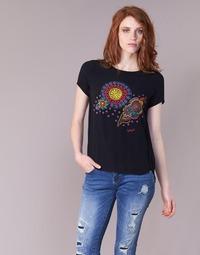 Clothing Women short-sleeved t-shirts Desigual NAIKLE Black