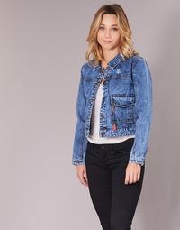 Clothing Women Denim jackets Kaporal BUCHE Blue