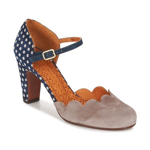 Shoes Women Heels Chie Mihara QUERESA Navy / Grey