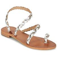 Shoes Women Sandals Les Tropéziennes par M Belarbi BALI White / Gold