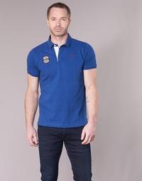 Clothing Men short-sleeved polo shirts Serge Blanco DOSSART 15 Blue