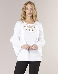 Clothing Women Tops / Blouses MICHAEL Michael Kors POPLIN GRMT LCE UP T. White
