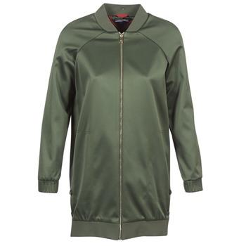 Clothing Women Jackets Tommy Hilfiger MABEL-LONG-BOMBER Kaki