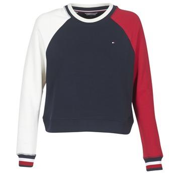 Clothing Women sweatpants Tommy Hilfiger APRIL-ROUND-NK-SWEATSHIRT Blue / White / Red
