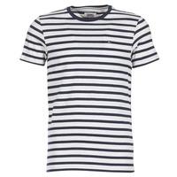 Clothing Men short-sleeved t-shirts Tommy Jeans TJM REG STRIPE CN KNIT S/S 15 Marine / Grey / Mottled