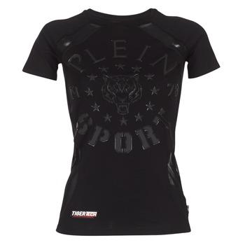 Clothing Women short-sleeved t-shirts Philipp Plein Sport FORMA LINEA Black