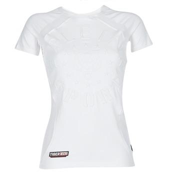 Clothing Women short-sleeved t-shirts Philipp Plein Sport FORMA LINEA White / White