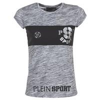 Clothing Women short-sleeved t-shirts Philipp Plein Sport THINK WHAT U WANT Grey