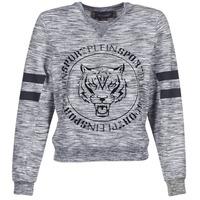 Clothing Women sweatpants Philipp Plein Sport LET YOUR MIND FREE Grey